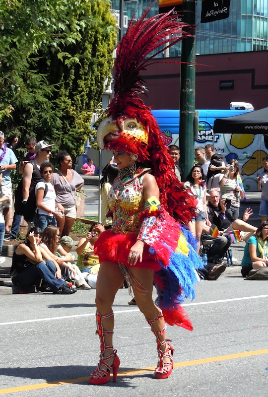 Vancouver Pride Parade Parrot costume