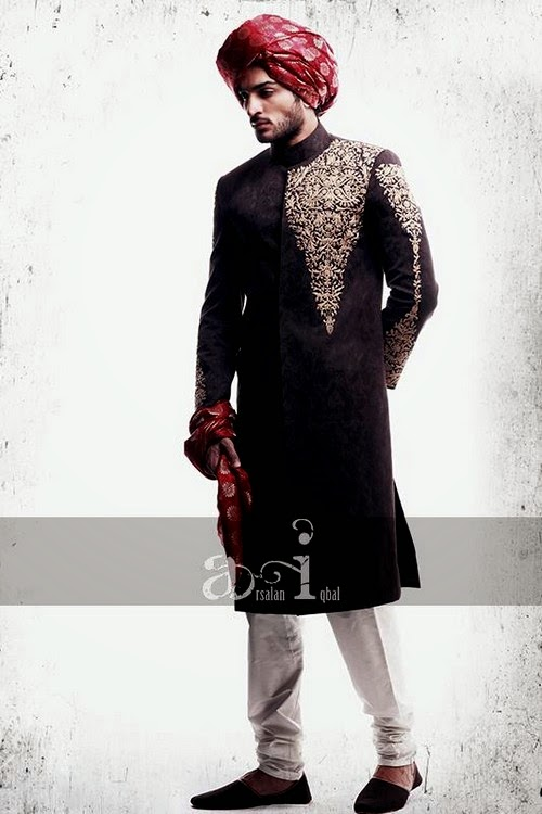 arsalan iqbal dulha sherwani collection 2014 royal groom