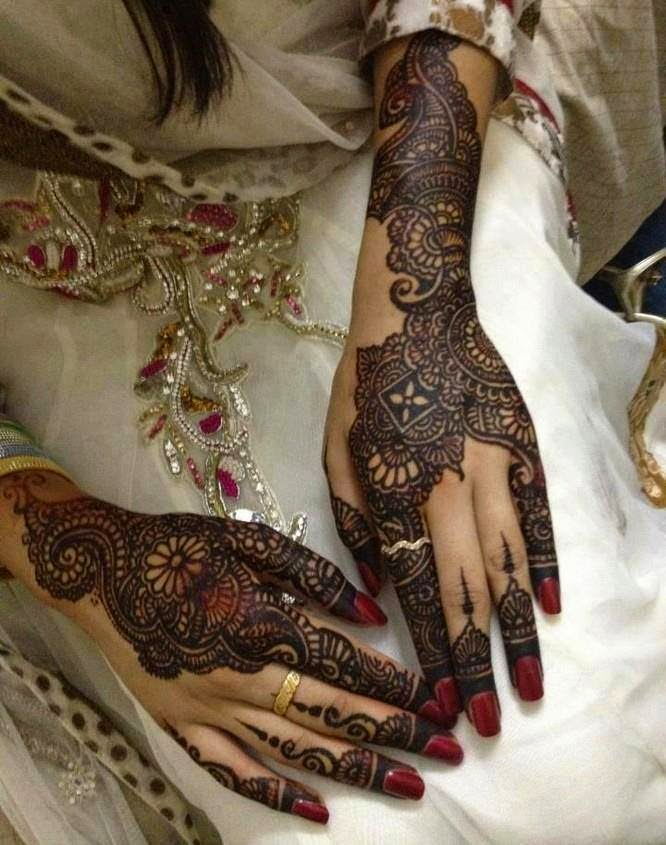 Mehndi Ceremony Pics : Beautiful latest simple arabic pakistani indian bridal
