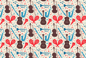 Music Instruments Pattern by Haidi Shabrina