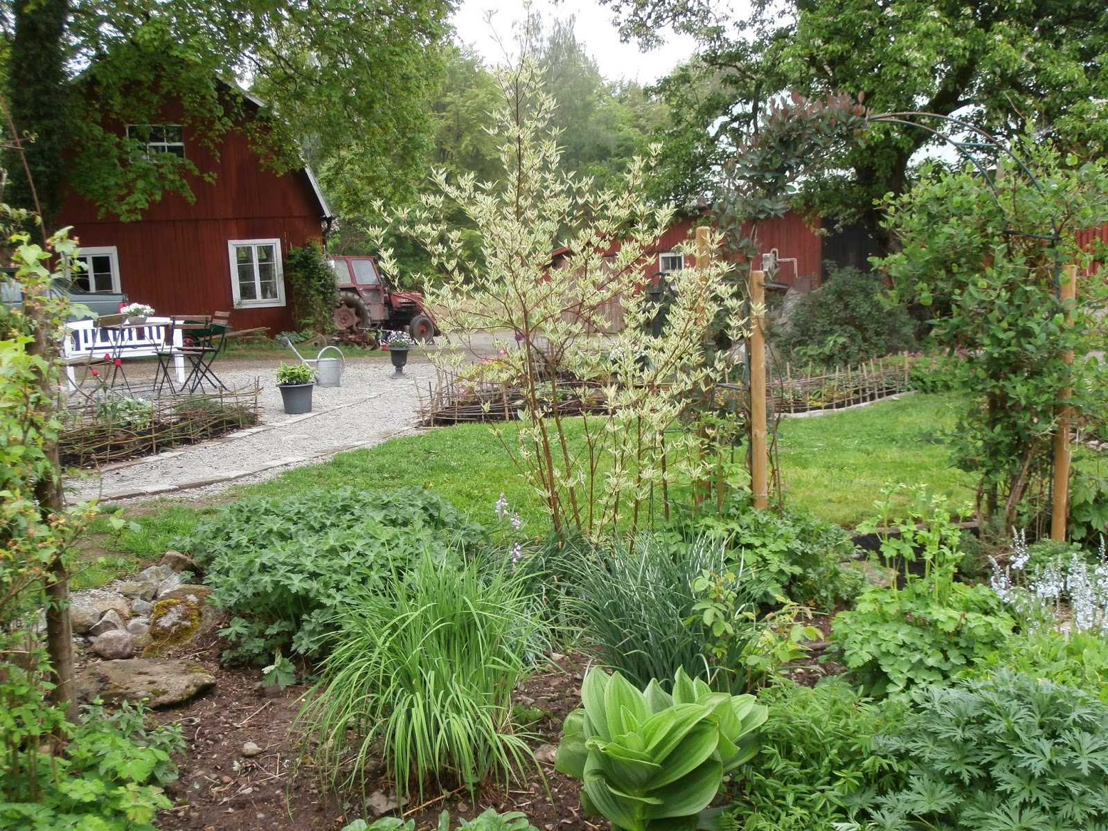 Trädgårdslivet på Lindön