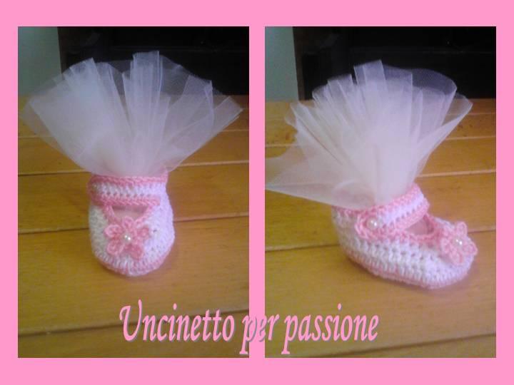 Top Uncinetto per passione: Bomboniere battesimo a uncinetto:scarpine  NC05