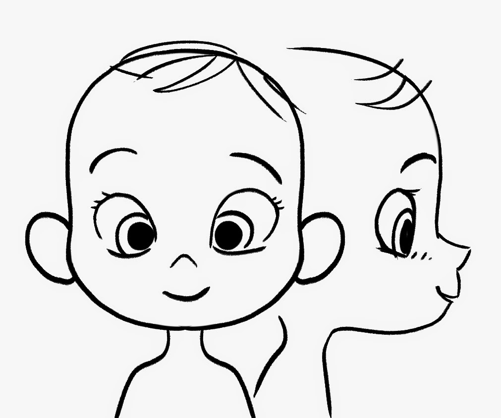Line Drawing Baby Face : Child face line drawing