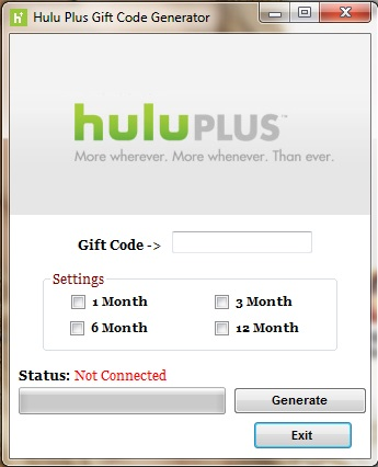 Normally players have to use real money to purchase Code on the official Hulu Plus website. Lucky for you, thanks to Hulu Generator you will never have to ...