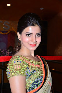 Actress Samantha Latest Pictures in Saree at Asian GPR Multiplex Opening  0090