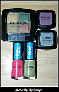 George, make-up, eyeshadow, nail varnish