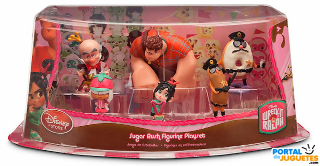 figuras rompe ralph set sugar rush caja disney store