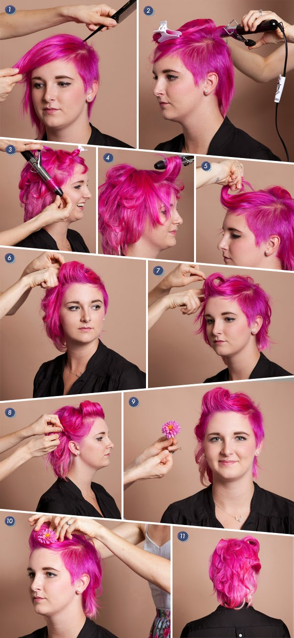 coiffure cheveux courts facile