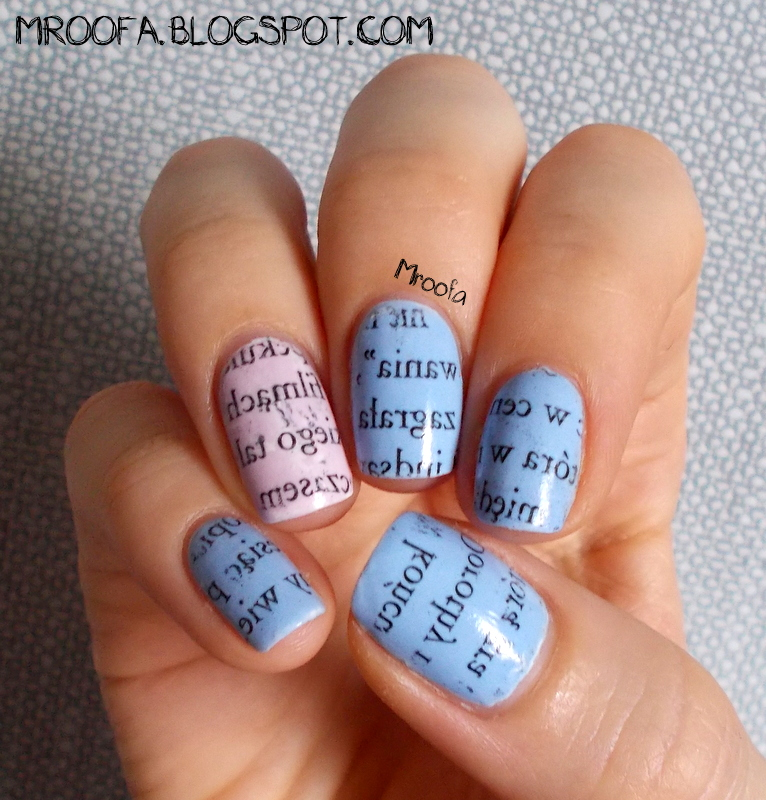 Newspaper Nails