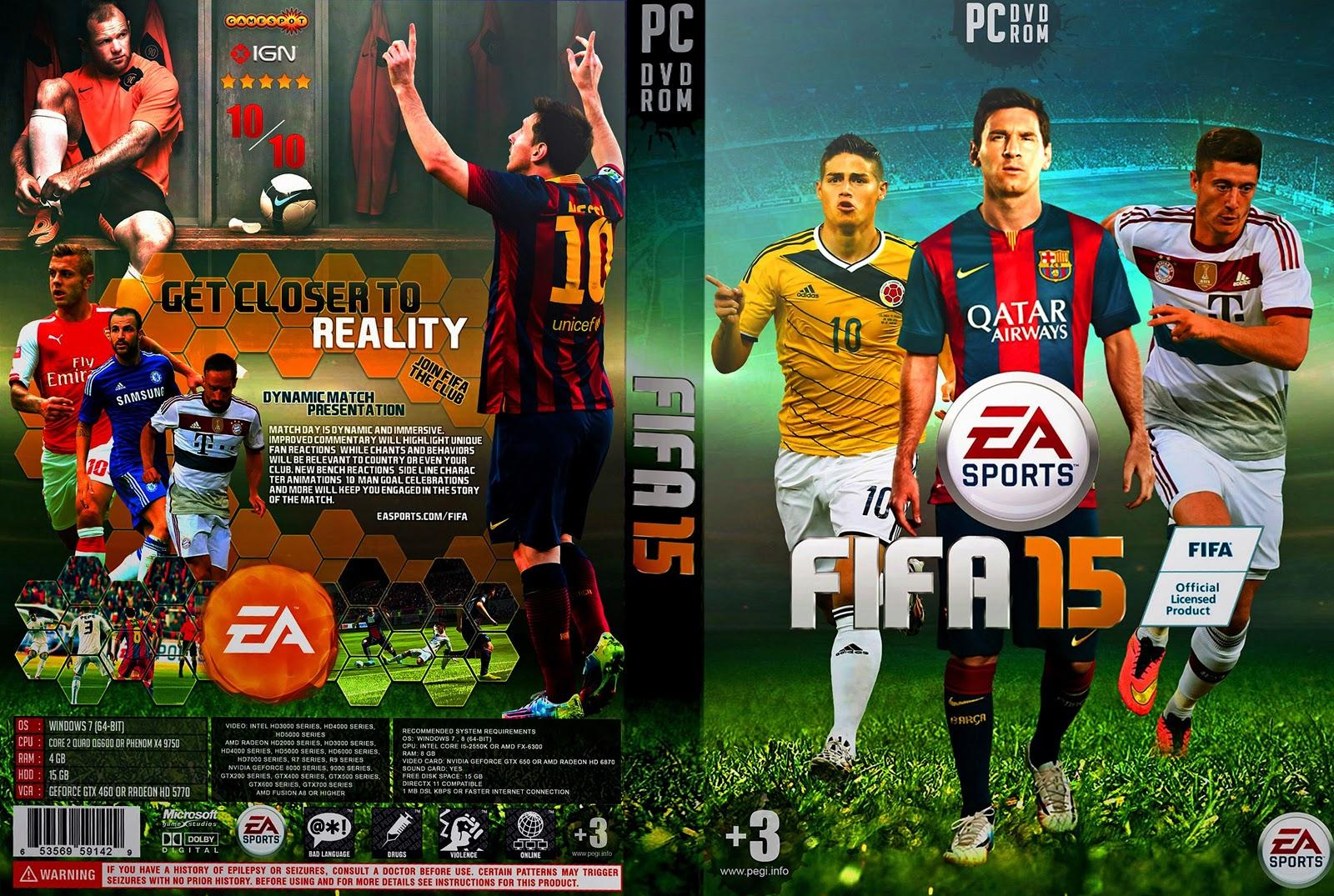 Capa Fifa 15 PC