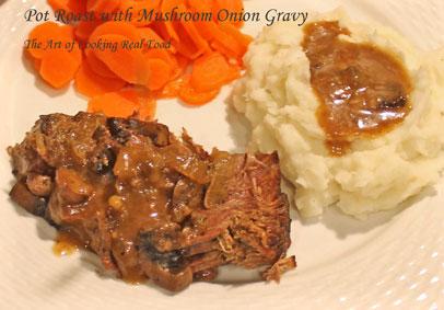 Filipino style pot roast in creamy mushroom gravy - Cook and Post