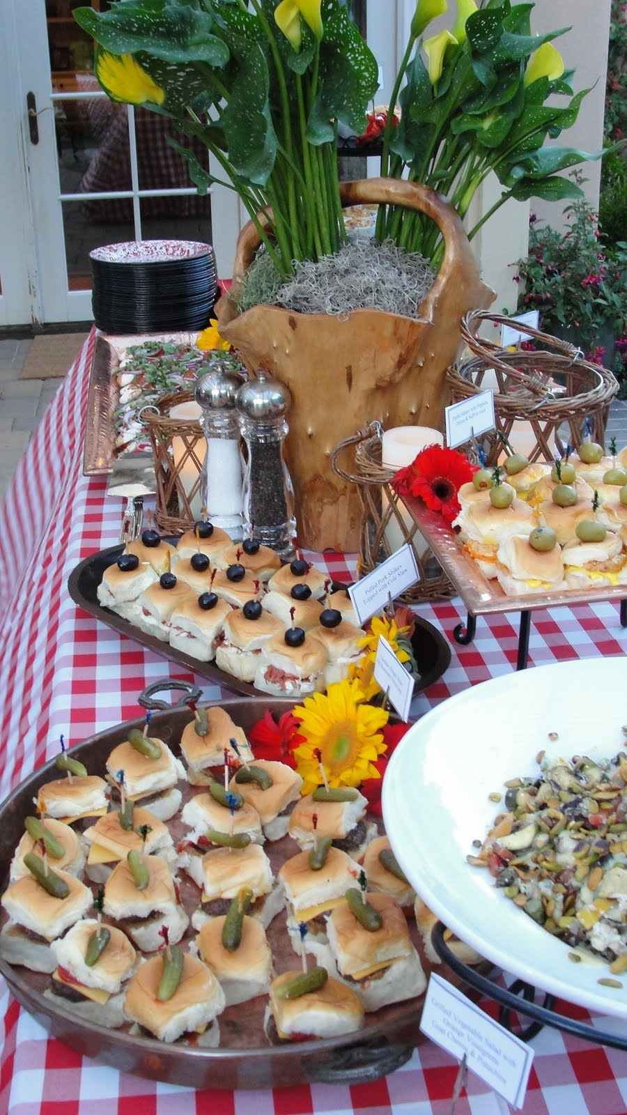 butler for hire catering food blog texas themed 40th birthday party