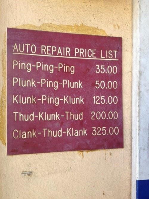 garage repair bill funny women drivers