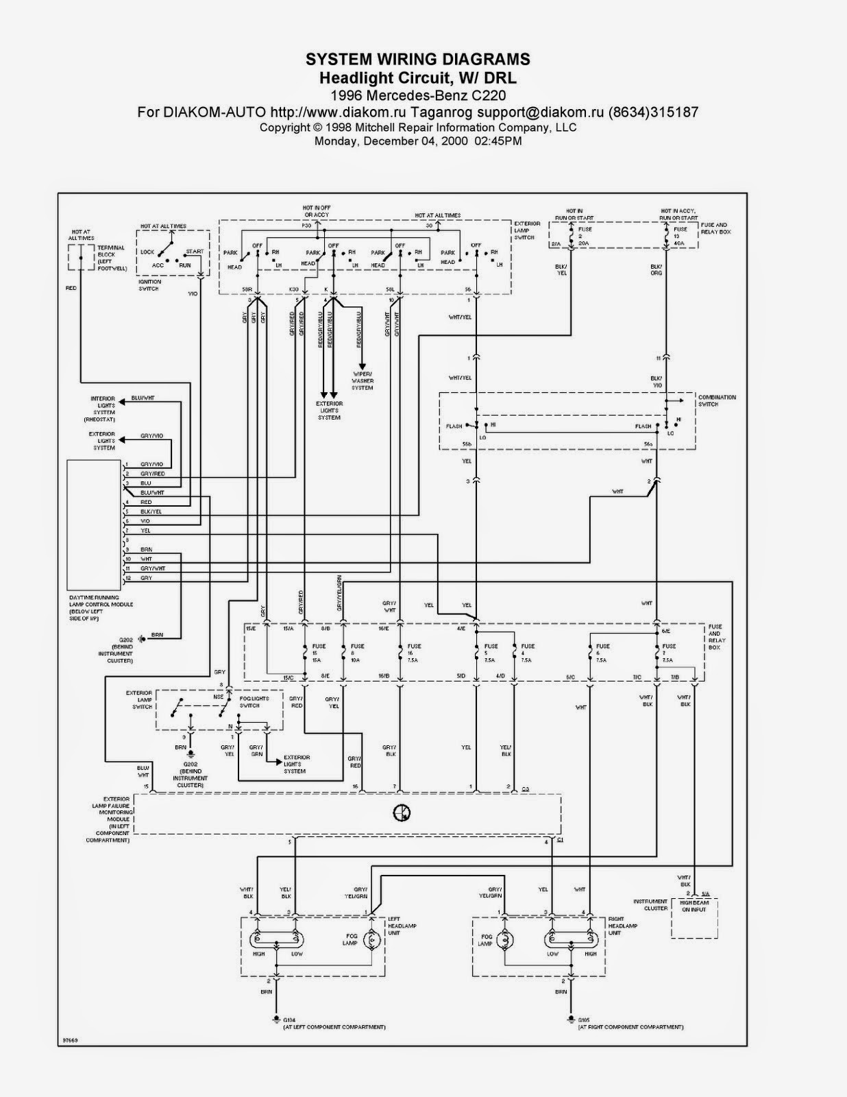 Mercedes Benz Engine Wiring Diagram : September free guide manual