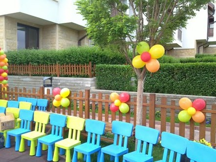 Decorating for children 39 s parties for Balloon decoration for kids birthday party