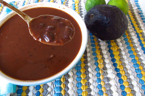 Black Beans from Vegetarian Black Bean Soup