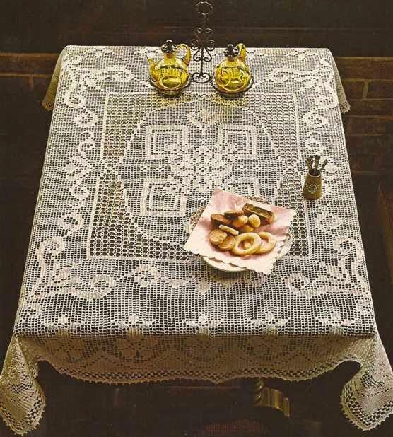 """Mantel """"Encanto del Pasado"""" a Crochet"""