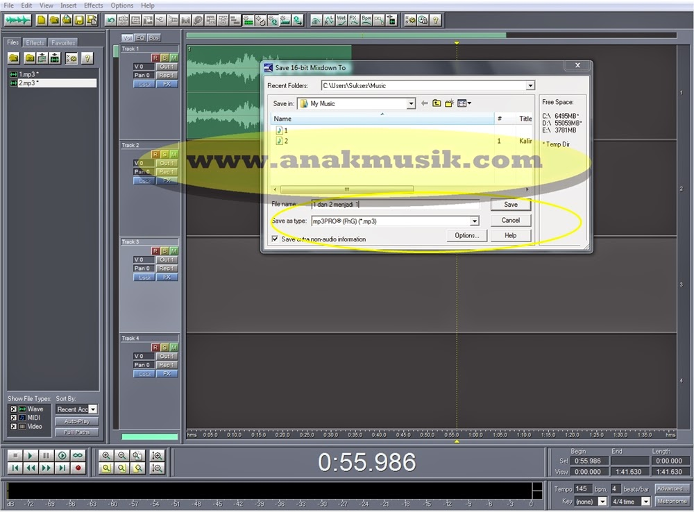 how to cut and merge songs in vlc