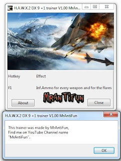 Tom Clancy's H.A.W.X 2 DX9 +1 Trainer MrAntiFun
