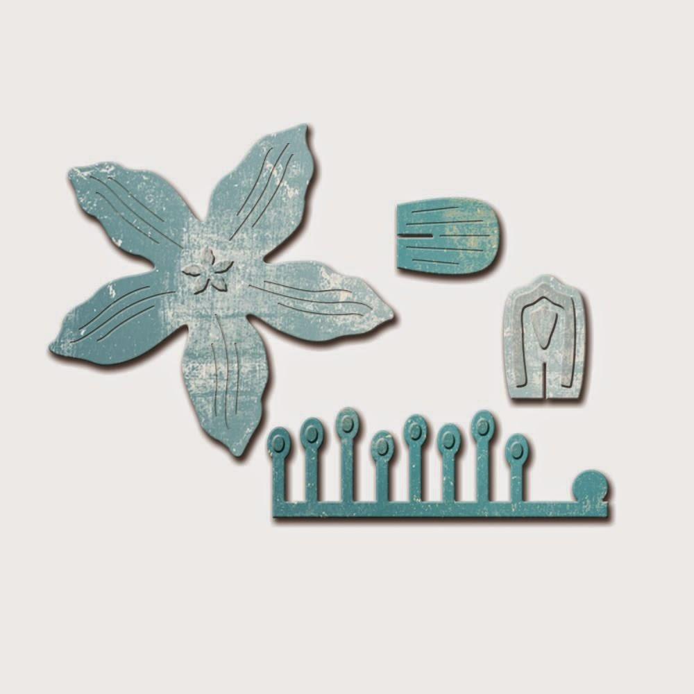 Spellbinders D-Lites - Crafty Flower 1 die