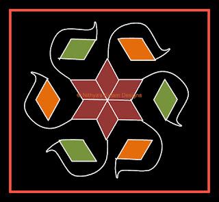 Kolam 24: Flower Kolam  7 x 4