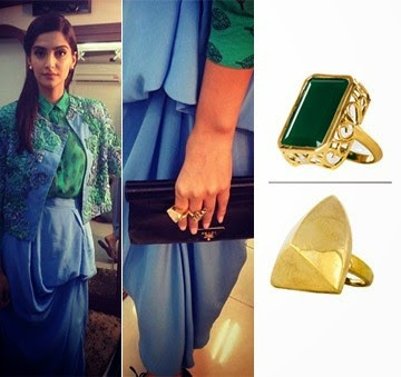 Green Oynx Filigree Ring Sonam Kapoor