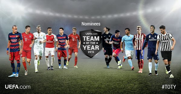 Barcelona, Juventus and Bayern Munich dominate UEFA Team Of The Year nominees list.