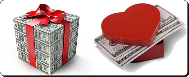 dinheiro para presente