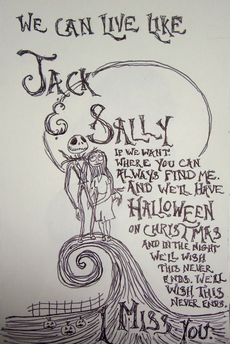... The Nightmare Before Christmas Jack And Sally Quotes For Kids ...