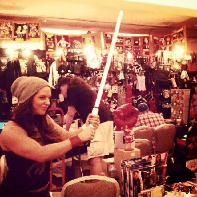 Former WWE Diva Kaitlyn Is a Jedi Master.