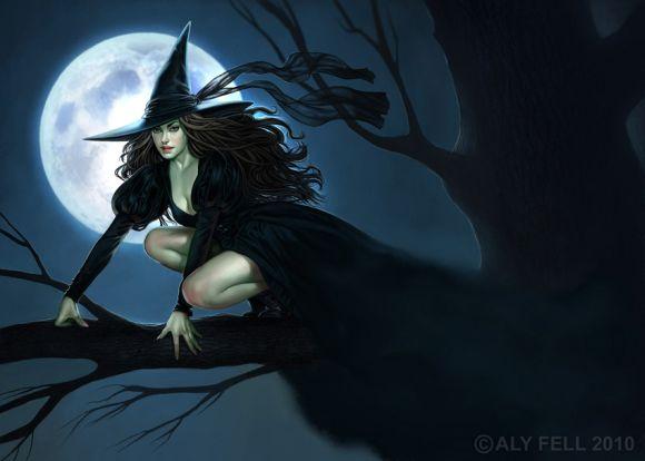 aly fell ilustrações mulheres sensuais fantasia sombria Bruxa sensual
