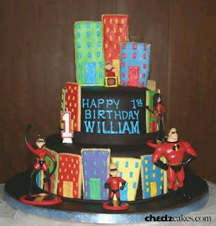 The Incredibles Cakes for Children parties