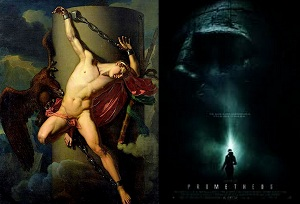 Prometheus Ridley Scott classical art Titan