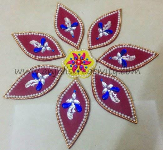 Artificial Rangoli Making