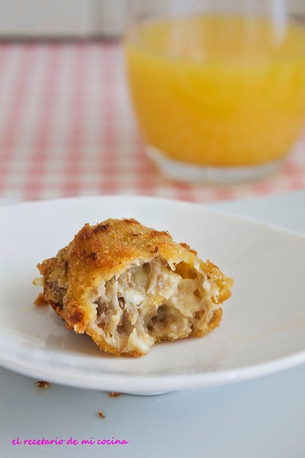 croquetas de carne y pollo cocido
