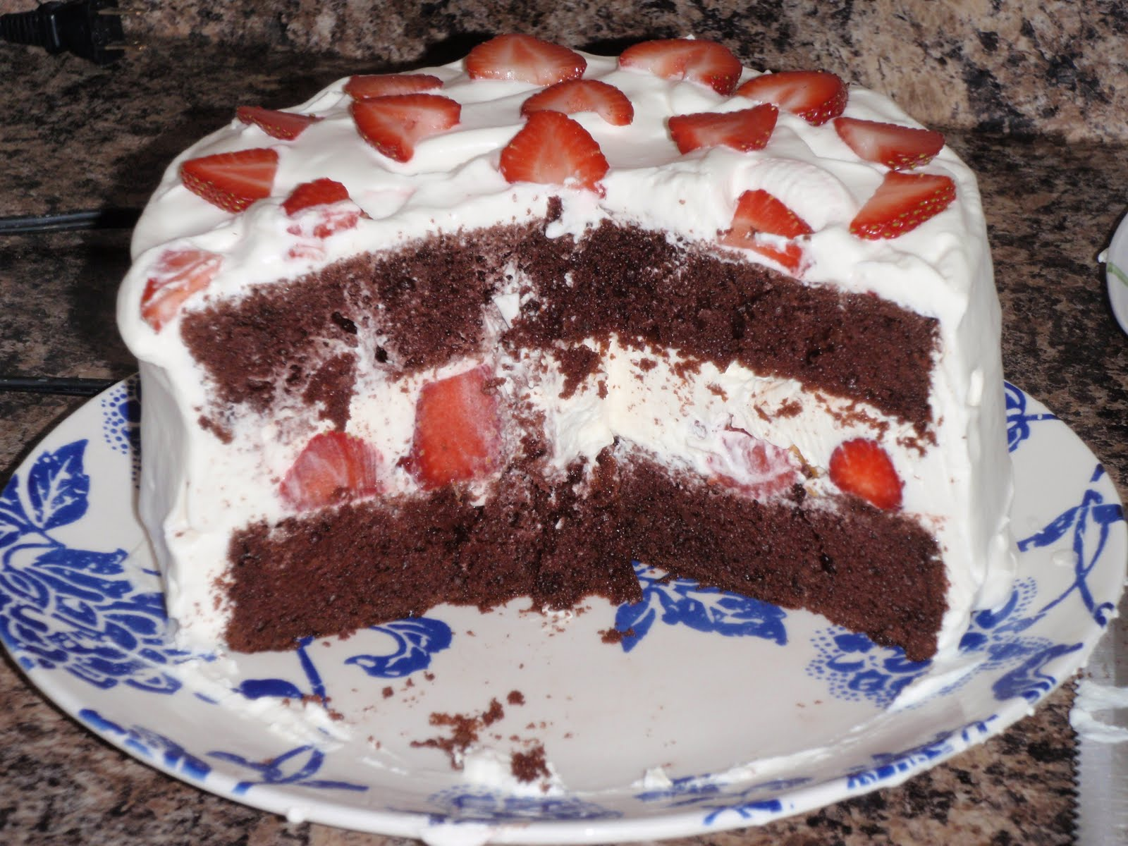 Cobalt Kitchen: Strawberry Whipped Cream Cake