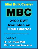 Mini Bulk Carriers, MBC, 2100 DWT, Self Propelled Barge, India, Barge with hatch cover, all weather barge
