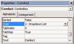 Validasi atau Proteksi ComboBox Tidak Bisa Diketik ComboBox Visual Basic 6.0, membuat Validasi, User Login , User admin