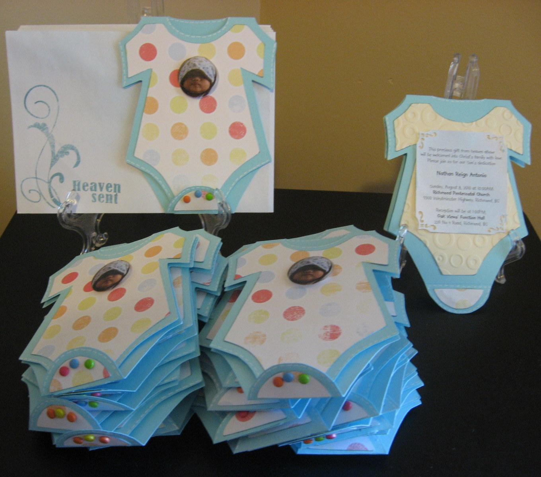 Baby Onesies Dedication Invitation