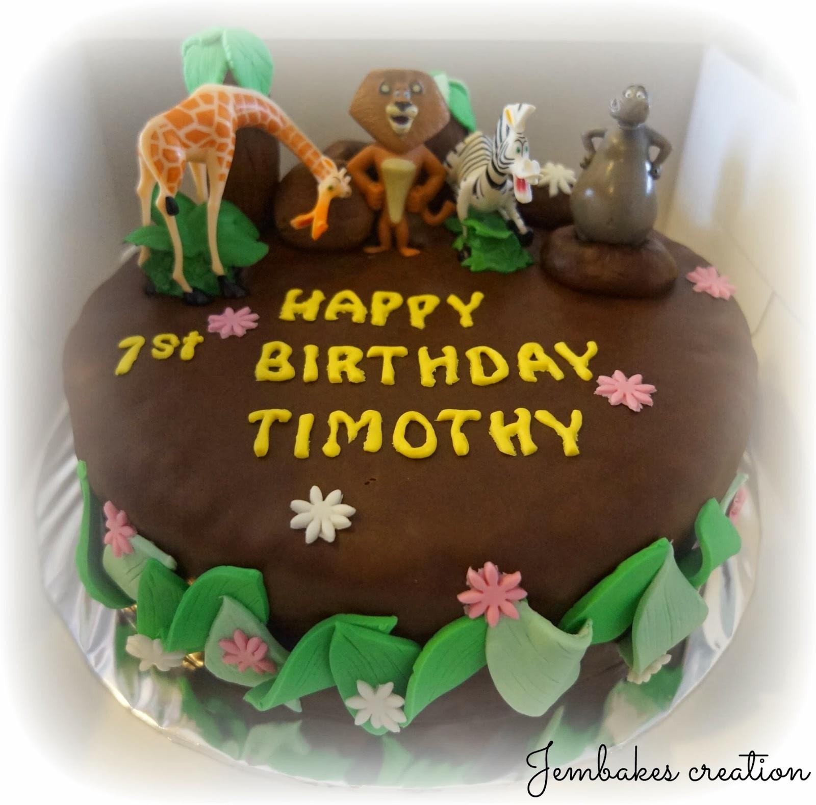 Happy Birthday Timothy Cake