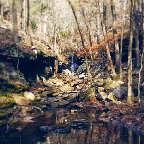 Crack in Rock Trail in Arkansas