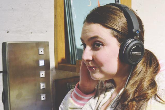 Becky listening to Lush music