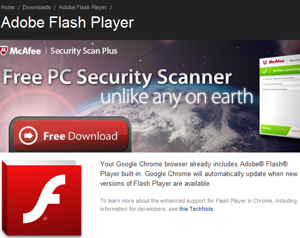 Google Chrome Bundled with Adobe Reader, Adobe Flash Player, Google Chrome with Adobe Flash Player