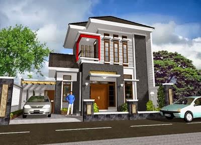 10 desain rumah minimalis 2 lantai type 70 terbaik