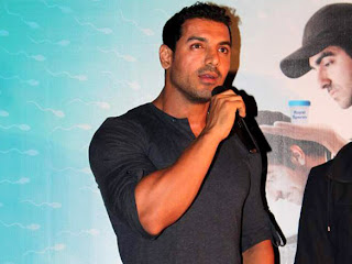 John Abraham at vicky donor movie first look