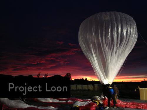 Cientistas do Google testam o Project Loon na Nova Zelândia com balões que apresentam 15 metros de diâmetro e pesa, em média, 10 kg