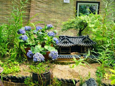 House of hydrangeas at the Garden of Morning Calm South Korea