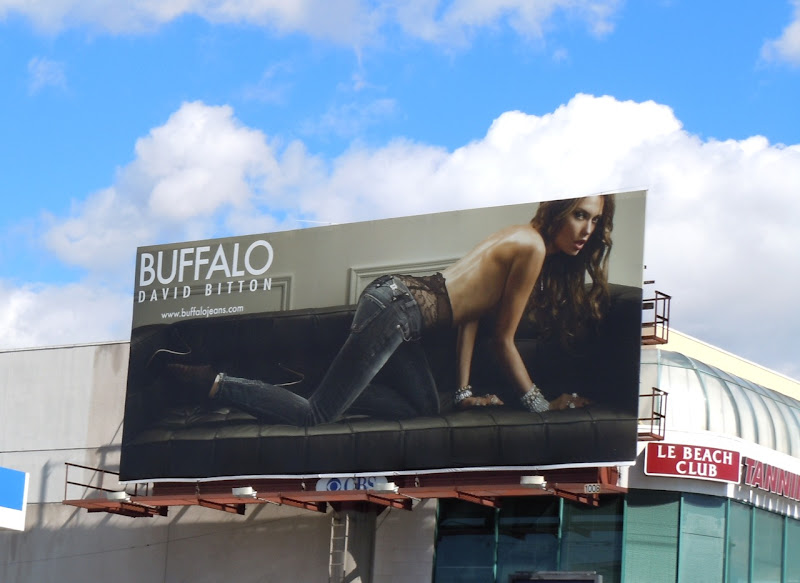 Sexy Buffalo Jeans model billboard