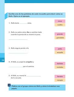 Apoyo Primaria Español 1er grado Bimestre 5 lección 11 Rafa, el niño invisible