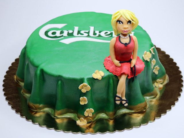 Commercial cake for Carlsberg in London